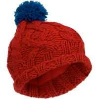 Alpine Boys Contrast Ski Beanie, Red