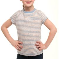 Peter Storm Girls Neppy Yarn Pocket T-Shirt, Blue