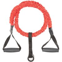 Fitness Mad Safety Resistance Tube for Weighted Bar (Pair), Red