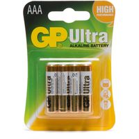 Gp Batteries Ultra Alkaline AAA 4 Pack, Assorted