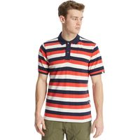 One Earth Mens Cory Polo Shirt, Red