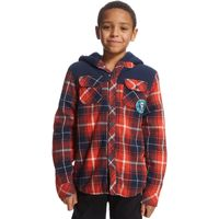 Animal Boys Lumberjack Shirt, Red