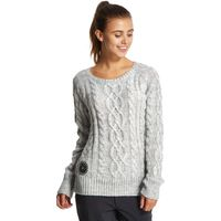 Animal Womens Errie Cable Knit Jumper, Grey
