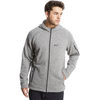 Jack Wolfskin Mens Caribou Lodge Fleece Jacket, Grey