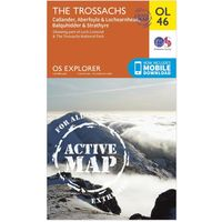 Ordnance Survey Active Explorer OL 46 The Trossachs Map, Assorted