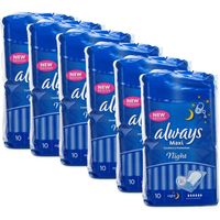 Always Maxi Night 10 Towels x 6 Pack