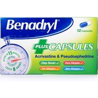 Benadryl Plus Allergy Relief Capsules
