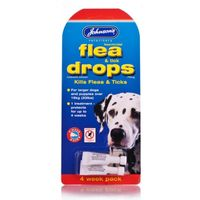 Johnsons Flea & Tick Drops 4 Weeks For Large Dog's