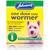 Johnson's One Dose Easy Wormer For Dogs