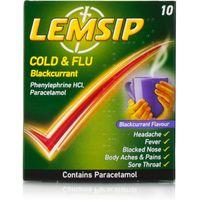 Lemsip Cold & Flu Blackcurrant Sachets
