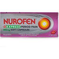 Nurofen Express Period Pain 200mg Soft Capsules