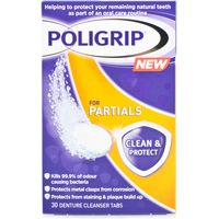 Poligrip for Partials Denture Cleanser Tablets