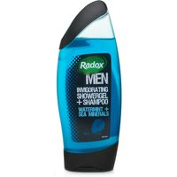 Radox for Men Invigorating Shower Gel/Shampoo Watermint & Sea Minerals
