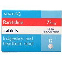Ranitidine 75mg Tablets (Zantac Alternative)