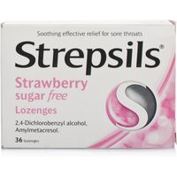 Strepsils Strawberry Sugar Free Lozenges