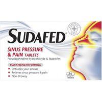 Sudafed Sinus Pressure & Pain Tablets