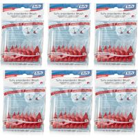 Tepe Intedental Brushes 6 Pack 8 Brushes Red