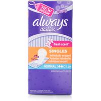 Always Dailies Normal Freshness Pantyliners Individually Wrapped