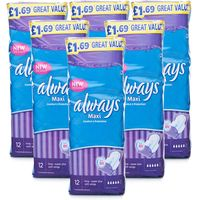 Always Maxi Long Super Plus with Wings 6 Pack
