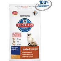 Hills Science Plan Mature Adult 7+ Hairball Control with Chicken