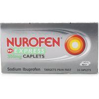 Nurofen Express Ibuprofen 256mg 16 Caplets