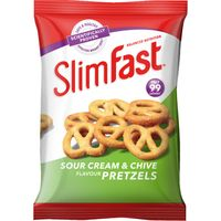 Slimfast Snack Bag Sour Cream Pretzel 23g