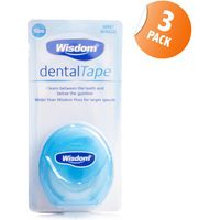 Wisdom Mint Waxed Dental Tape Triple Pack