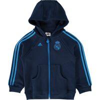 Real Madrid 3 Stripe Full Zip Hoody - Infants