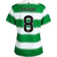 Celtic Home Shirt 2015/16 - Womens White with Brown 8 printing