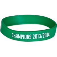 Celtic 2013/14 - Champions Rubber Wristband - 12mm Width