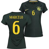 Brazil Third Shirt 2013/15 - Womens Black with Marcelo 6 printing