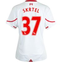 Liverpool Away Shirt 2015/16 - Womens White with Skrtel 37 printing