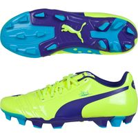 Puma evoPOWER 4 Firm Ground Football Boot - Kids Yellow