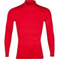 Under Armour Evo Coldgear Compression Mock Baselayer Top - Long Sleeve Red