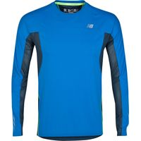 New Balance Impact Ice T-Shirt - Long Sleeve Blue