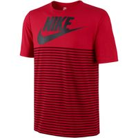 Nike Mesh Stripe T-Shirt Red