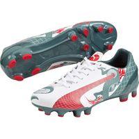 Puma evoSPEED 4.3 Graphic Firm Ground Football Boots - Kids White