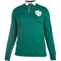 Ireland Rugby 1874 Long Sleeve Plain Rugby Jersey Green
