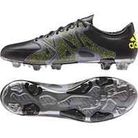 adidas X 15.2 Leather Firm Ground Football Boots Black