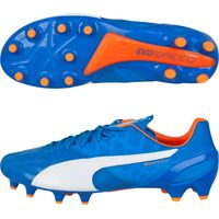 Puma evoSPEED 1 Leather Firm Ground Football Boots Royal Blue