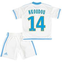 Olympique de Marseille Home Kit 2015/16 - Infants with Nkoudou 14 printing
