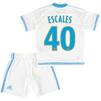 Olympique de Marseille Home Kit 2015/16 - Infants with Escales 40 printing