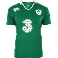 Ireland Home Test Short Sleeve Rugby Shirt 2014/15 Green