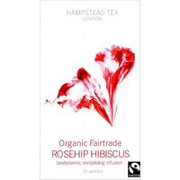 Image For Hampstead Tea Rosehip Hibiscus Organic Fairtrade Infusion - 20 Sachets