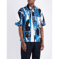 Jungle-print regular-fit cotton shirt