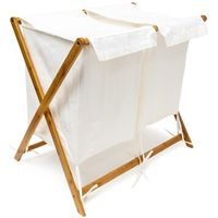 Folding Laundry Storage Stand with 2 Fabric Bags