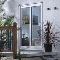 6ft White PVCu Patio Patio Door Frame Pack