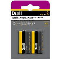 Diall C Alkaline Battery  Pack of 2