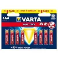 Varta Max Tech AAA Alkaline Battery  Pack of 8
