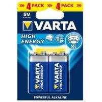 Varta High Energy 9V Alkaline Battery  Pack of 4